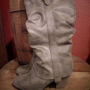 Roslyn Jellypop  Smoky Gray wide leg tall boots